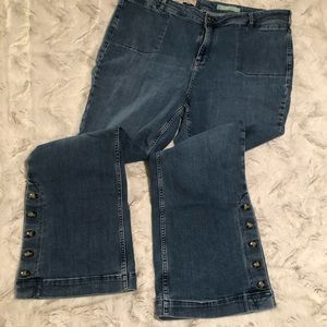 Anthropologie high-rise bootcut jeans size 26W